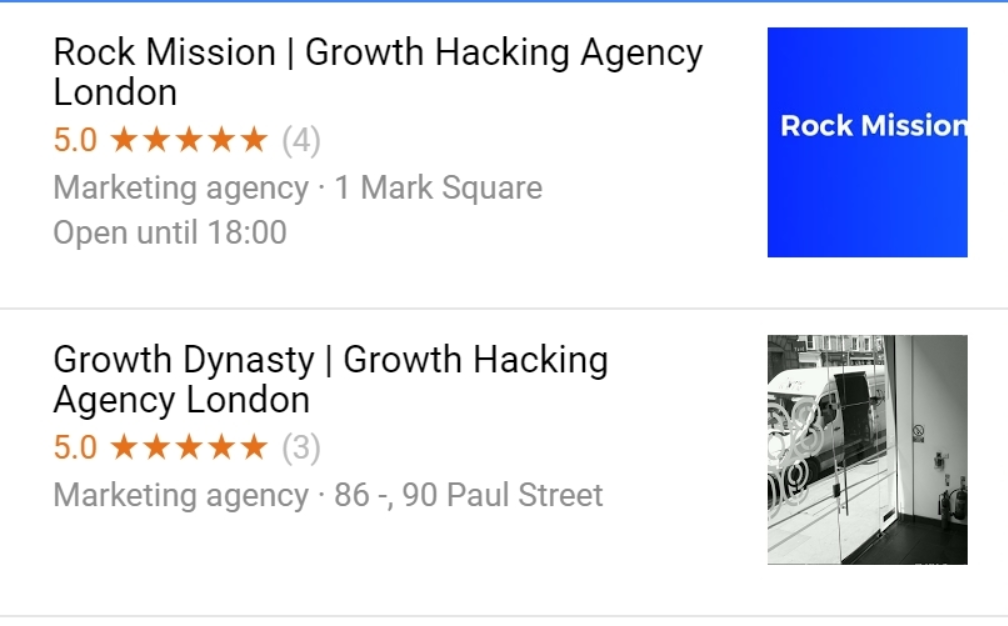 Growth Hacking agencies in london snack pack