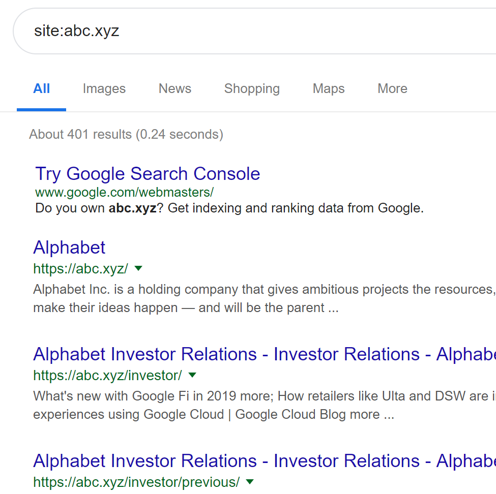 How to check site indexing using search operators