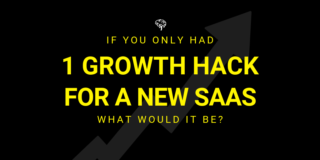 One growth hack for a saas twitter question