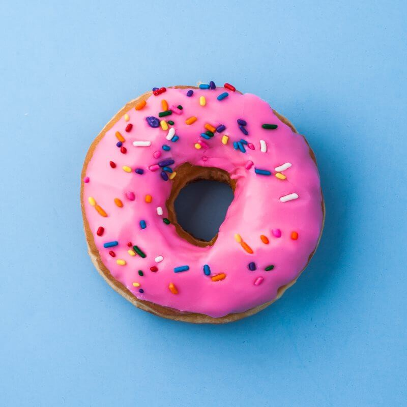 This is straight up a picture of a donut